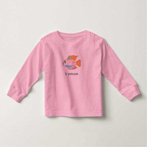 Camiseta de los pescados del chica