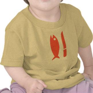 Camiseta de los pescados y del cuchillo