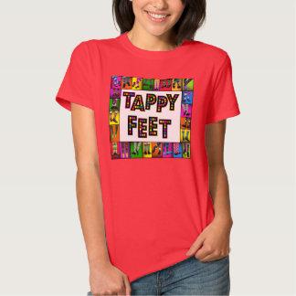 Camiseta de los pies de Tappy Playeras