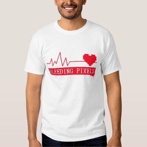 Camiseta de los pixeles de la sangría remera
