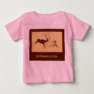 camiseta de los rosas bebés de EatAnimals.com Playera