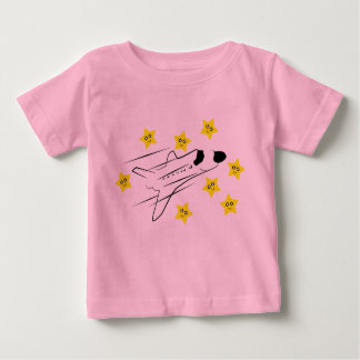 Camiseta de los rosas bebés del transbordador poleras