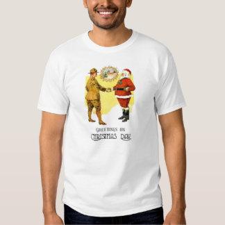 Camiseta de los saludos del navidad del Ejército Polera
