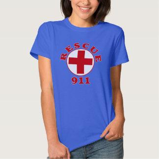 Camiseta de los servicios de emergencia del remeras