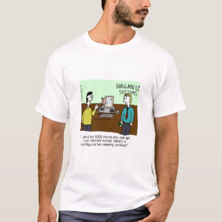 Camiseta de los sistemas informáticos del negocio