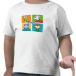Camiseta de los traqueteos del niño