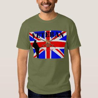 Camiseta de los veteranos del ejército británico playeras