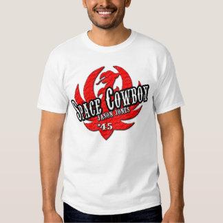 Camiseta de lucha de Jason Jones del vaquero del Polera