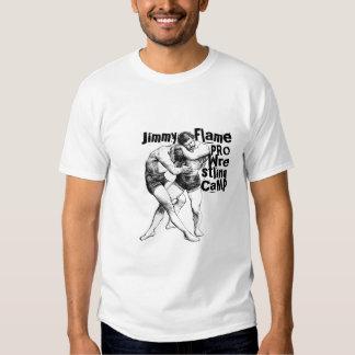 Camiseta de lucha del campo de la llama de Jimmy Poleras
