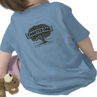 Camiseta de lujo infantil del roble de la carta