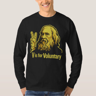 Camiseta de Lysander Spooner Voluntaryism Playeras