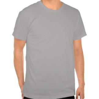 Camiseta de madera blanco y negro del grano playera