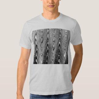 Camiseta de madera blanco y negro del grano remera