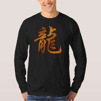 Camiseta de madera de la oscuridad del dragón del