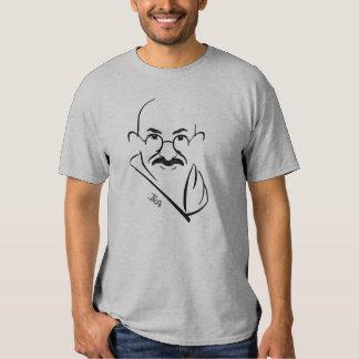 Camiseta de Mahatma Gandhi (gris clara) Playeras
