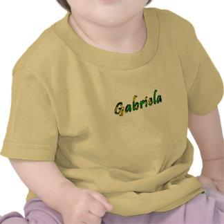 Camiseta de manga corta amarilla de Gabriela