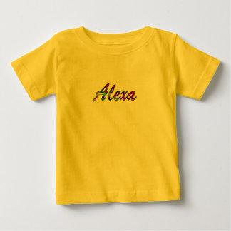 Camiseta de manga corta amarilla para Alexa