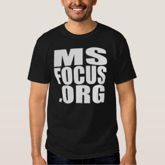 Camiseta de manga corta de msfocus.org de los poleras