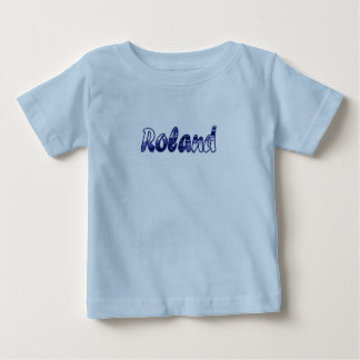 Camiseta de manga corta del azul de Roland Polera