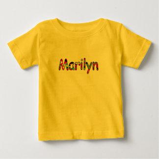 Camiseta de manga corta para Marilyn en color Playera Para Bebé