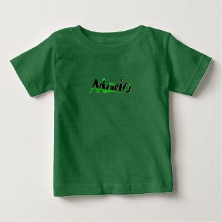 Camiseta de manga corta verde de Mario Poleras