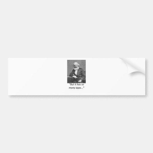 Camiseta de Marx Smartphone Apps Etiqueta De Parachoque