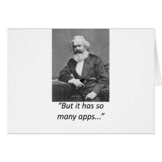 Camiseta de Marx Smartphone Apps Tarjeta