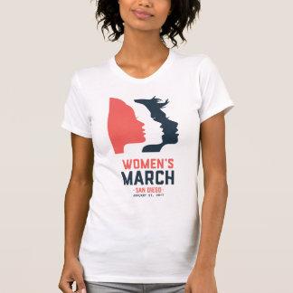 Camiseta de marzo de las mujeres de San Diego