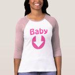 Camiseta de maternidad de Babseball del vintage Playera