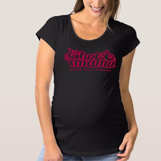Camiseta de maternidad de la hornada caliente de