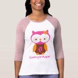 Camiseta de maternidad del búho de la invitación