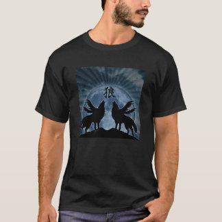 Camiseta de medianoche del aullido (kanji del