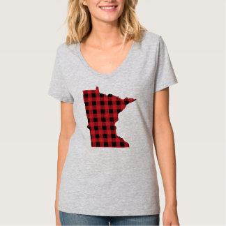 Camiseta de Minnesota de la tela escocesa de Paul Poleras