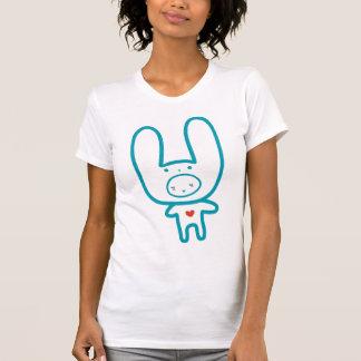Camiseta de MoMo del muchacho del conejito Remera