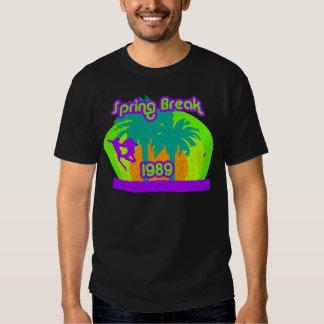 Camiseta de neón 80s de las vacaciones de playeras