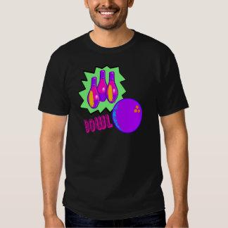 Camiseta de neón de la bolera playeras