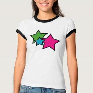 Camiseta de neón del campanero de la estrella playera