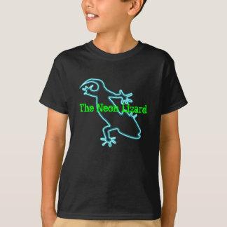 Camiseta de neón del lagarto