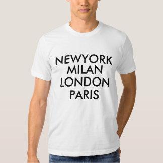 Camiseta de Newyork Milano Londres París Remera