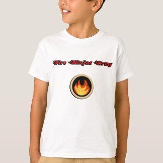 Camiseta de Ninjas del fuego con el logotipo y el
