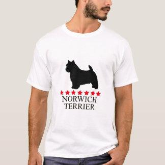 Camiseta de Norwich Terrier con las estrellas