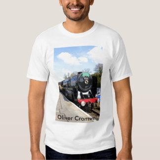 """Camiseta de """"Oliver Cromwell"""" del tren del vapor Playera"""