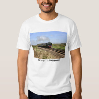 "Camiseta de ""Oliver Cromwell"" del tren del vapor Polera"