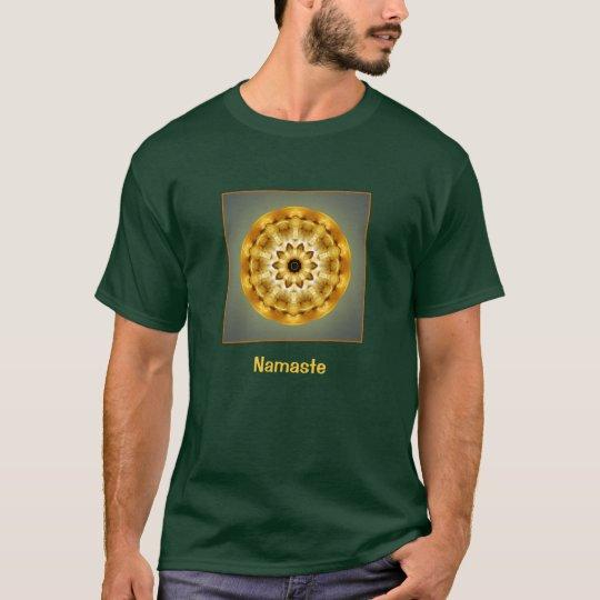 Camiseta de oro de la mandala de Namaste Sun