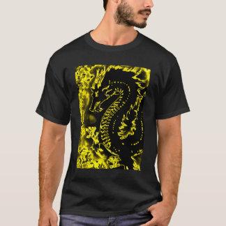 Camiseta de oro del dragón del alcohol del samurai