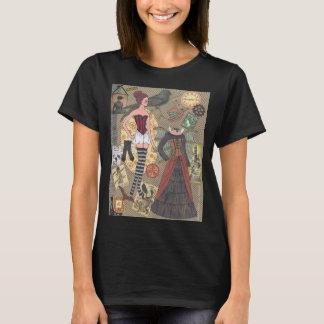 Camiseta de papel banal del arte de la muñeca de