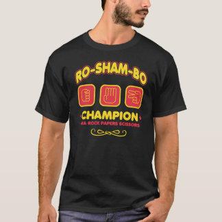 Camiseta de papel de las tijeras de la roca