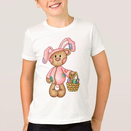 Camiseta de Pascua con el oso vestido como