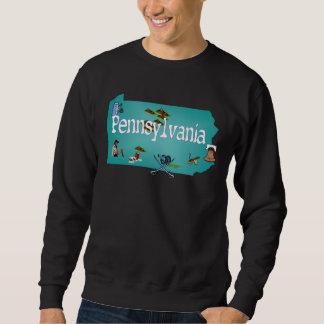 Camiseta de Pennsylvania Sudaderas Encapuchadas