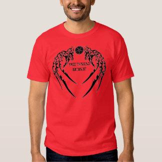Camiseta de pensamiento libre del Satanist Playeras